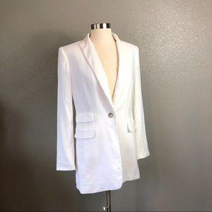 Ann Taylor linen white  one button blazer sz 4